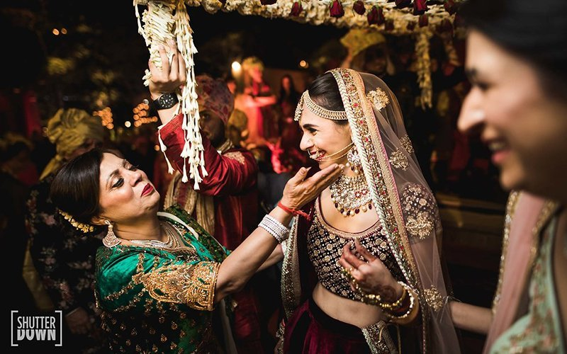 In laws Welcome newly bride , Indian Wedding